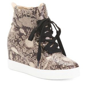 NWT CATHERINE MALANDRINO Lace Up Wedge Sneakers